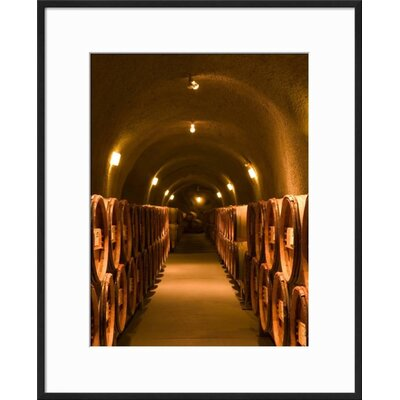 """'Pine Ridge Winery Cask Room, Yountville, Napa Valley, California' Framed Photographic Print Frame: Black Framed, Size: 21"""" H x 17"""" W 15145123"""