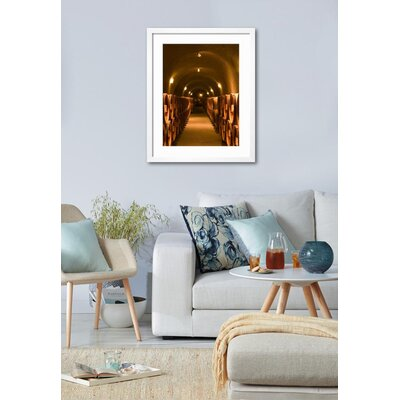 """'Pine Ridge Winery Cask Room, Yountville, Napa Valley, California' Framed Photographic Print Frame: Black Framed, Size: 39"""" H x 31"""" W 15145122"""