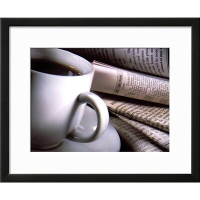 "'Cup of Coffee' Framed Photographic Print Frame: Black Framed, Size: 19"" H x 23"" W 15148225"