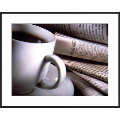 "'Cup of Coffee' Framed Photographic Print Frame: Black Framed, Size: 23"" H x 29"" W 1EAD238241614D6093B2EB6B28442E94"