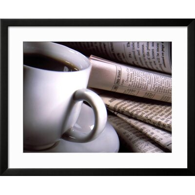 "'Cup of Coffee' Framed Photographic Print Frame: Black Framed, Size: 25"" H x 31"" W 554347A4B9414399BD954EC2A9AC8F14"