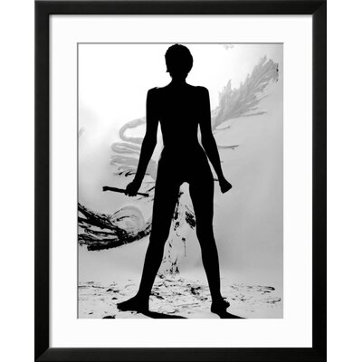 "'Silhouette of Nude Woman Painting Abstract Canvas' Framed Graphic Art Print Frame: Black Framed, Size: 31"" H x 25"" W 3D0A9D506D3A4B238D8EFAC8BBD1F13C"