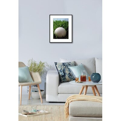 'Close-up of Golf Ball in Grass' Framed Photographic Print 874D5698A1F64661AF1FC2AD16F6333F