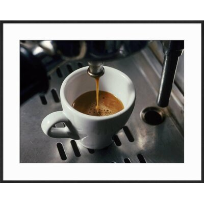 "'Machine Pouring Cup of Espresso' Framed Photographic Print Frame: Black Framed, Size: 23"" H x 29"" W 68F1A37D138B4096B66DCD1053D677C9"