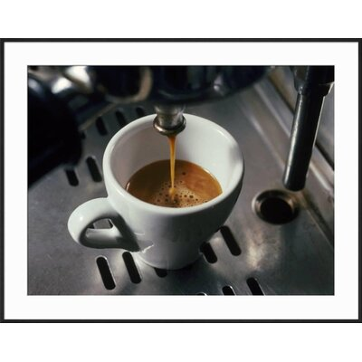 "'Machine Pouring Cup of Espresso' Framed Photographic Print Frame: Black Framed, Size: 29"" H x 37"" W 30DD4E9A4491485B830A12CA2BADFA33"