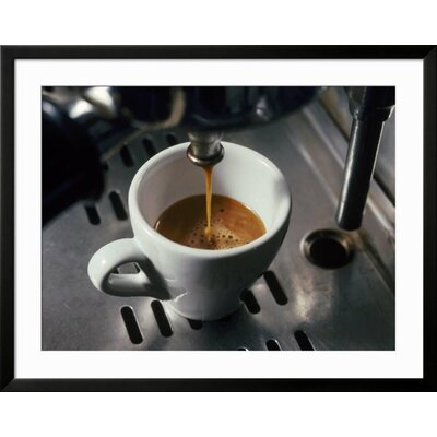 "'Machine Pouring Cup of Espresso' Framed Photographic Print Frame: Black Framed, Size: 31"" H x 39"" W 6D3C3058C4E94A93ACCDB9D9A87E5BF8"