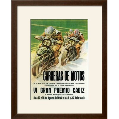 'Motorcycle Racing Promotion' Framed Vintage Advertisement 91E0988202DB43899BF8AFF970ECD31B