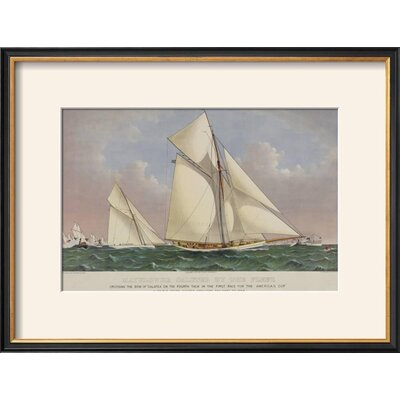 """'America's Cup Yacht Race 1886' Framed Graphic Art Print Frame: Coventry Black Framed, Size: 16"""" H x 21"""" W DCFE8D626C6A490295F4E646310E8A16"""