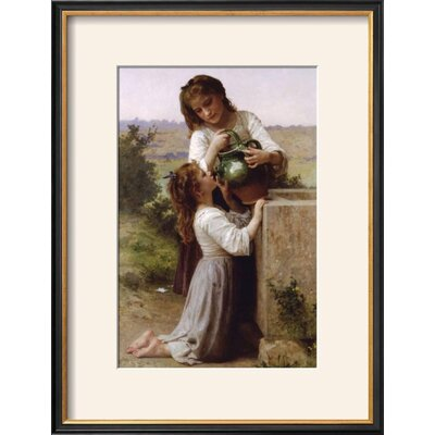 """Image of 'At the Fountain' Framed Photographic Print Frame: Coventry Black Framed, Size: 21"""" H x 16"""" W"""