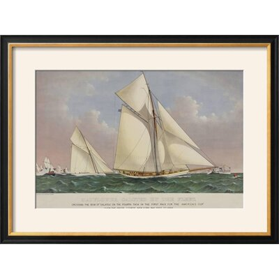 """'America's Cup Yacht Race 1886' Framed Graphic Art Print Frame: Coventry Black Framed, Size: 22"""" H x 29"""" W 955B4A38C1174452B370DFBB86F82F76"""