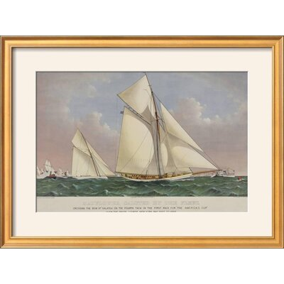 "'America's Cup Yacht Race 1886' Framed Graphic Art Print Frame: Coventry Gold/Bronze Framed, Size: 21"" H x 29"" W 0817E6A442944082BC6593CEA8E52DB9"