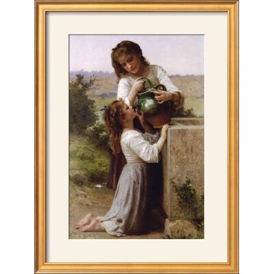 """Image of 'At the Fountain' Framed Photographic Print Frame: Coventry Gold/Bronze Framed, Size: 29"""" H x 21"""" W"""