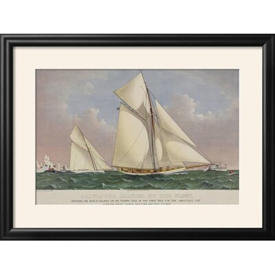 """'America's Cup Yacht Race 1886' Framed Graphic Art Print Size: 22"""" H x 29"""" W, Frame: Nurre Black Framed 8984EB12311D4165882B871038D259A3"""
