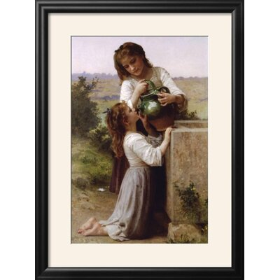 """Image of 'At the Fountain' Framed Photographic Print Frame: Nurre Black Framed, Size: 29"""" H x 22"""" W"""