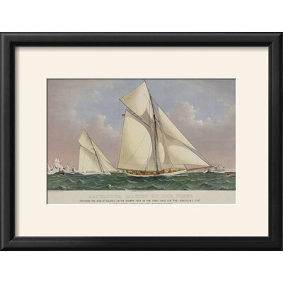 'America's Cup Yacht Race 1886' Framed Graphic Art Print 40D66E8062274E37A48244C07ABEF8F2