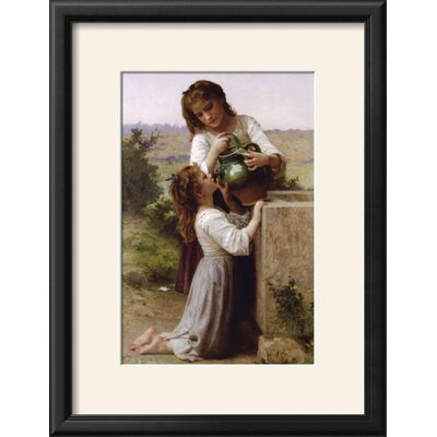 """Image of 'At the Fountain' Framed Photographic Print Frame: Onyx Black Framed, Size: 22"""" H x 17"""" W"""