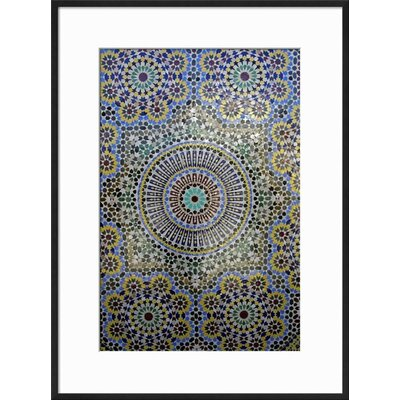 "Image of 'Mosaic Wall for Fountain, Fes, Morocco, Africa' Framed Print Frame: Ronda Ii Black Framed, Size: 23"" H x 17"" W"