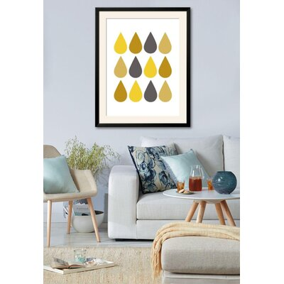 'Raindrops II' Framed Graphic Art Print