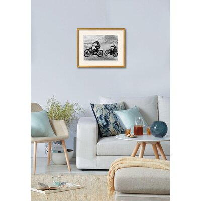 'Two Motorcyclists Taking Part in Motocross at Brands Hatch, Kent' Framed Photographic Print 15223291
