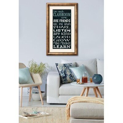 'In Our Classroom' Framed Textual Art 15222133