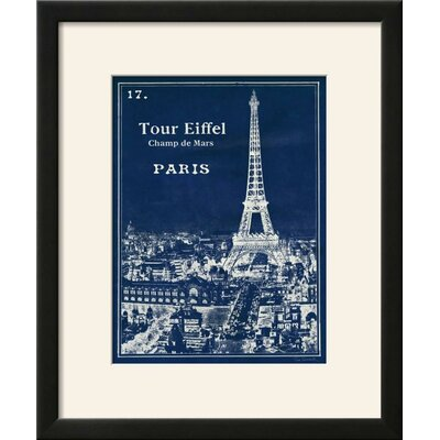 'Blueprint Eiffel Tower' Framed Vintage Advertisement Print FC066C75C0234BCF8894E9F66904C9A8