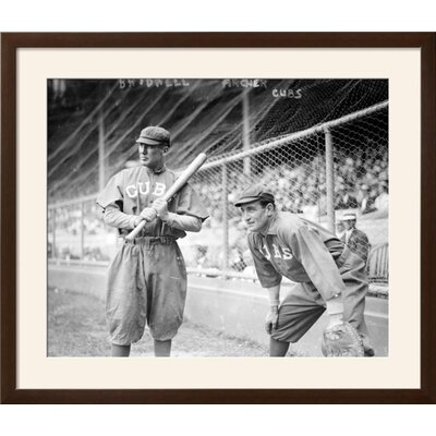 "'Al Bridwell & Jimmy Archer, Chicago Cubs, Baseball Photo' Framed Memorabilia Frame: Soho Espresso/Brown Framed, Size: 29"" H x 34"" W 9597391519514ABEBA85FADC901577BE"