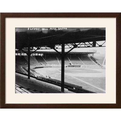"'Fenway Park, Boston Red Sox, Baseball Photo No.3 - Boston, MA' Framed Photographic Print Frame: Soho Espresso Brown Framed, Size: 23"" H x 29"" W 15155240"