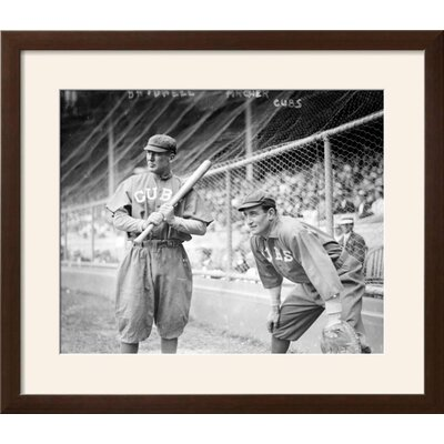 "'Al Bridwell & Jimmy Archer, Chicago Cubs, Baseball Photo' Framed Memorabilia Frame: Soho Espresso/Brown Framed, Size: 24"" H x 27"" W B6FDF5D3281F421FA574F36A4903E365"
