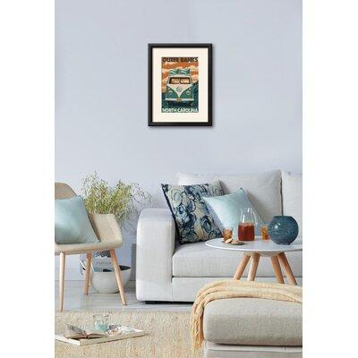 'VW Van - Outer Banks, North Carolina' Framed Graphic Art Print