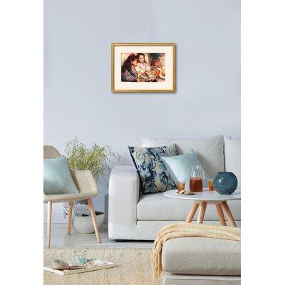 'Portrait of Jean and Genevieve Caillebotte' by Pierre-Auguste Renoir Framed Print A31760637EA049C783FF2E2C39D58947
