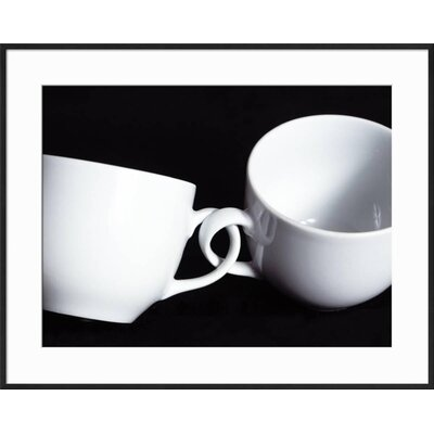 "'Two Cups with Intertwined Handles' Framed Photographic Print Frame: Ronda Ii Black Framed, Size: 23"" H x 29"" W 81ADED0FDFA646669D82FE0AC2056D53"
