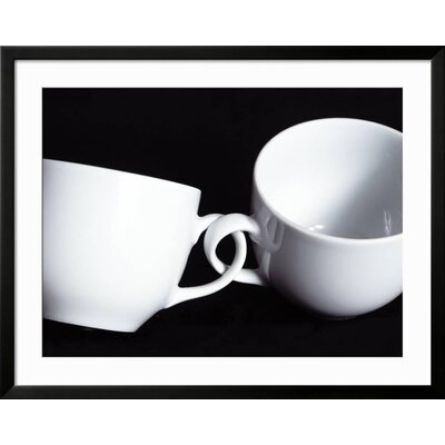 "'Two Cups with Intertwined Handles' Framed Photographic Print Frame: Soho Black Framed, Size: 31"" H x 39"" W 60309AD2A28641CB99B50B7220E5B036"
