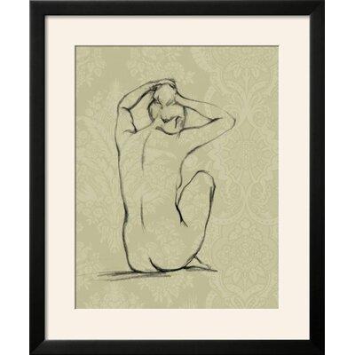 "'Sophisticated Nude I' Framed Graphic Art Print Frame: Soho Black Framed, Size: 28"" H x 24"" W 630E9EA01A014B2AACF684199962B186"