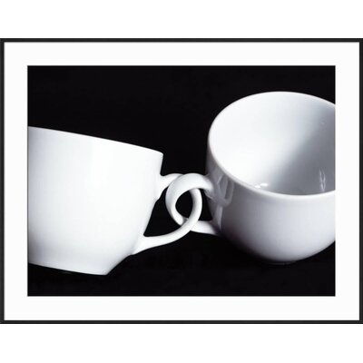 "'Two Cups with Intertwined Handles' Framed Photographic Print Frame: Ronda Ii Black Framed, Size: 29"" H x 37"" W FC5D17259A554B7E84AB73751CDBC6AB"