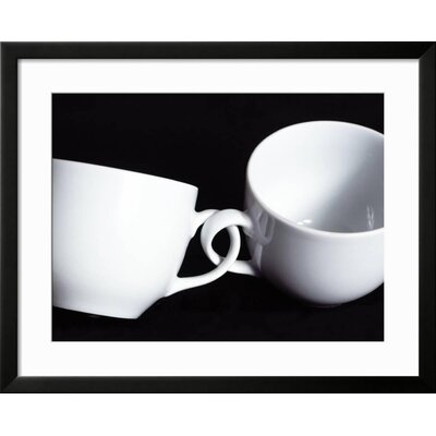 "'Two Cups with Intertwined Handles' Framed Photographic Print Frame: Soho Black Framed, Size: 25"" H x 31"" W F872431A6C544481B77FE3BADF91947B"