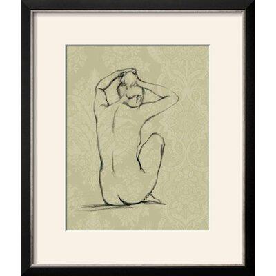 "'Sophisticated Nude I' Framed Graphic Art Print Frame: Basel Black/Silver Framed, Size: 21"" H x 17"" W 0CDB66DAC71545958C9CBA5C33BC599D"