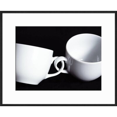"'Two Cups with Intertwined Handles' Framed Photographic Print Frame: Ronda Ii Black Framed, Size: 17"" H x 21"" W D85B9E8FA82F4CFCA575577C8C6F258B"