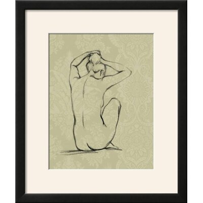 'Sophisticated Nude I' Framed Graphic Art Print D2D3FB4DBBF14050B7ED3D8446092033