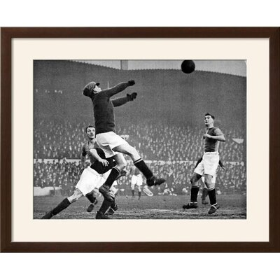 "'Arsenal Vs. Mansfield Town, F.A. Cup Fourth Round, 1929' Framed Photographic Print Frame: Soho Espresso/Brown Framed, Size: 25"" H x 31"" W 91CB04E46603493391F0EAC9D64E8FAE"