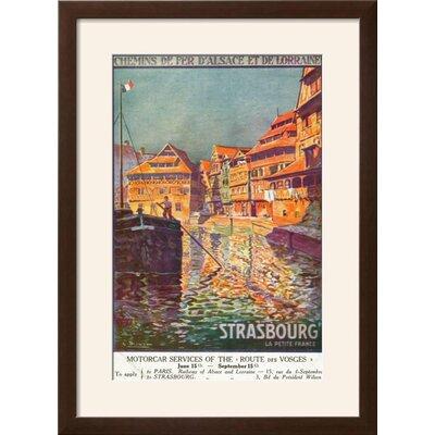 "'Strasbourg, France - View of a Man Steering a Ship, Alsace and Lorraine Railways, c.1920' Framed Vintage Advertisement Frame: Soho Espresso/Brown Framed, Size: 29"" H x 21"" W 535D79CF5F964870AF4F8F72DAEC56B7"