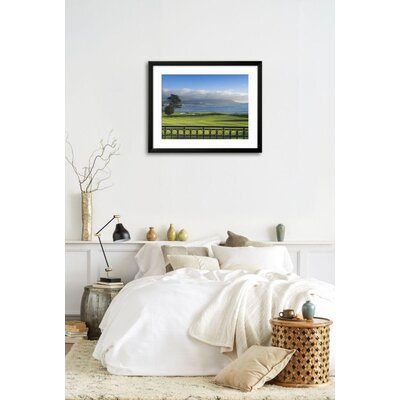 "'Pebble Beach Golf Club, Carmel, California, USA' Framed Photographic Print Frame: Soho Black Framed, Size: 25"" H x 31"" W 2AEE2E76D93E45268B40EB469B1EE9D6"