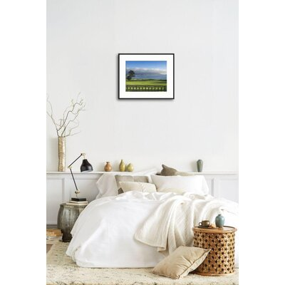 "'Pebble Beach Golf Club, Carmel, California, USA' Framed Photographic Print Frame: Ronda Ii Black Framed, Size: 17"" H x 21"" W 18DC0D1ADB1C439D90118F2C6BAC2051"