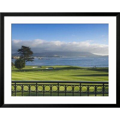 "'Pebble Beach Golf Club, Carmel, California, USA' Framed Photographic Print Frame: Soho Black Framed, Size: 31"" H x 39"" W 7F4C6CC8A64A4BBEAC5EFEEDB4979435"