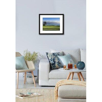 """'Pebble Beach Golf Club, Carmel, California, USA' Framed Photographic Print Frame: Soho Black Framed, Size: 19"""" H x 23"""" W 84DC1E06484F47E58687BCEC0F77A7F0"""