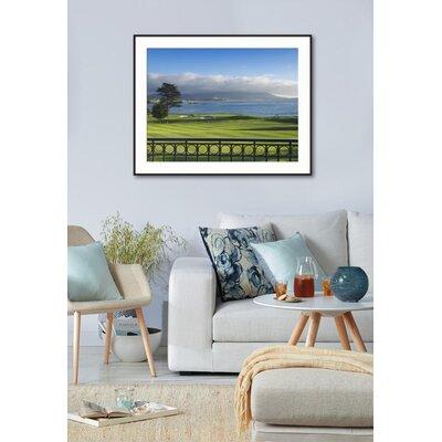"'Pebble Beach Golf Club, Carmel, California, USA' Framed Photographic Print Frame: Ronda Ii Black Framed, Size: 29"" H x 37"" W A7127E1078DC4DEABC61C3B20ECF5125"