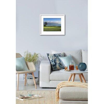 "'Pebble Beach Golf Club, Carmel, California, USA' Framed Photographic Print Frame: Chelsea Gray/White Framed, Size: 18"" H x 22"" W F4B4BC4CC8D94FABB8BC6161F225D67A"