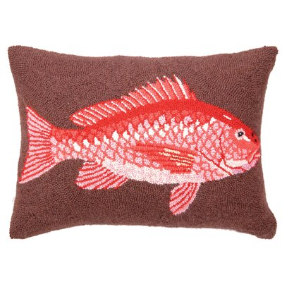 Nautical Snapper Wool Throw Pillow