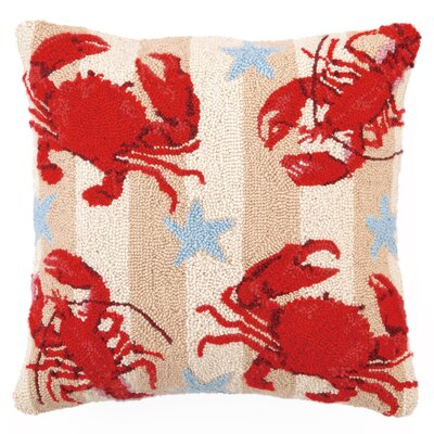 Crab and Lobsters Wool Throw Pillow