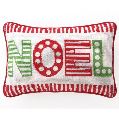 Hip Noel Needlepoint Wool Throw Pillow