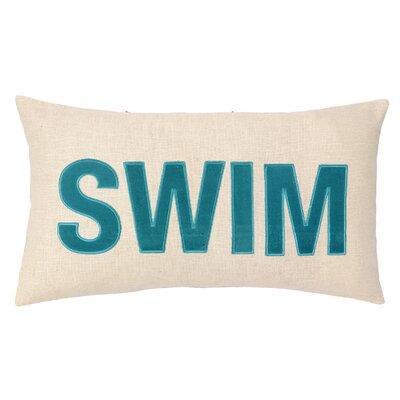 Nautical Applique Swim Lumbar Pillow
